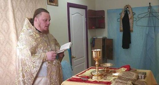 Божественная литургия в п. Приозерный