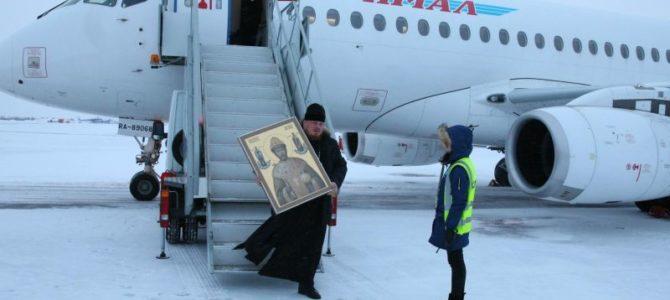 В надымский Свято-Никольский храм была доставлена икона Николая II