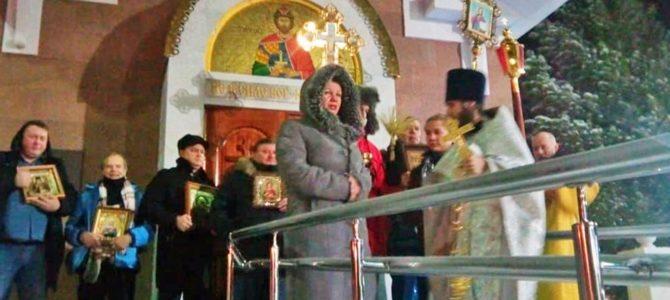 Новогоднее богослужение совершили в храме Благоверного князя Александра Невского г. Надым